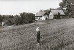 Pohled na domy pánů Pejchara a Duška, tak vypadaly v 70. letech. Kdo pozná chlapce v popředí?