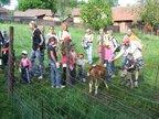 A už vyrážíme na trať, jako první na děti i rodiče čekala zvířátka...